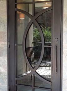 simple curved pattern in iron door | Single Door Designs - Custom Iron Doors - Doors by Design