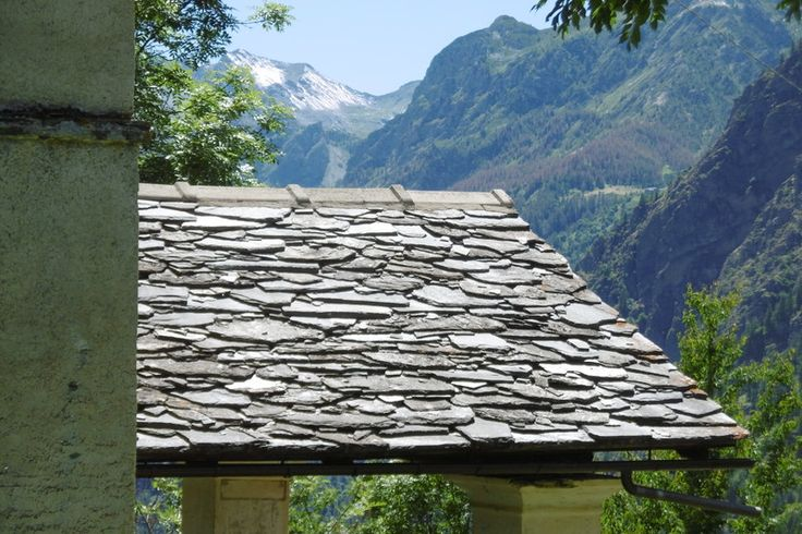 Col San Giovanni Val Maira — tetto in lose