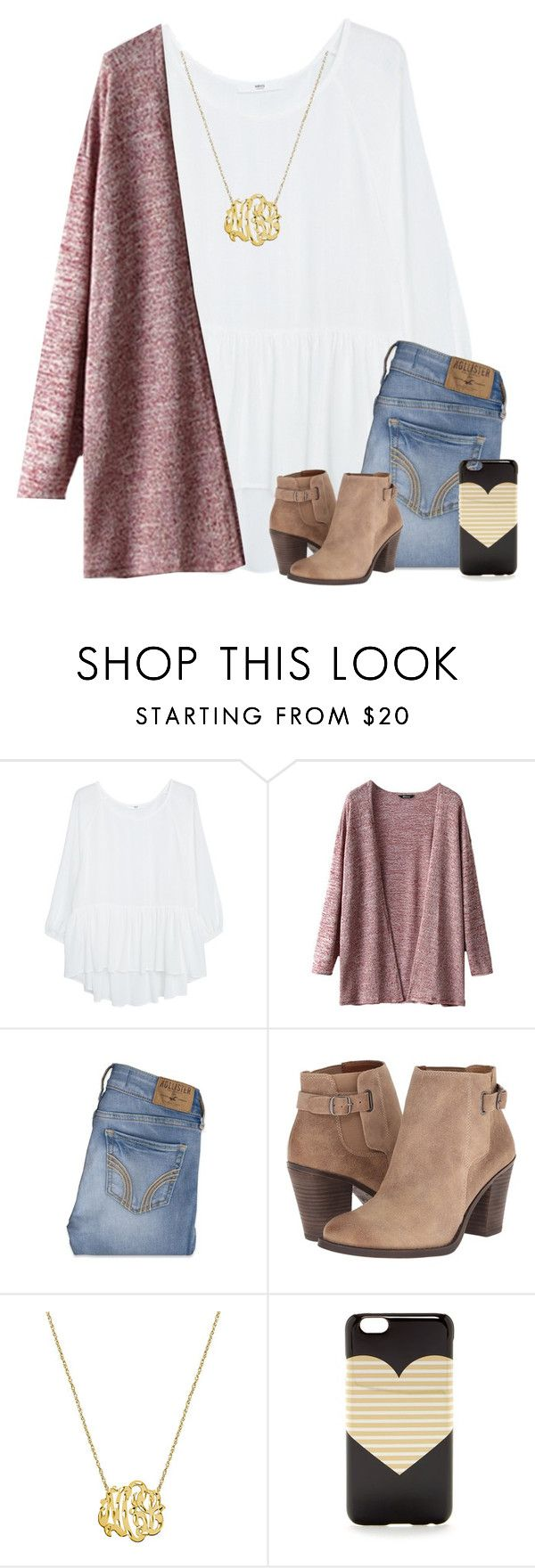 """""""Life is going pretty good rn:)"""" by savanahe ❤ liked on Polyvore featuring MANGO, Hollister Co., Lucky Brand and J.Crew"""