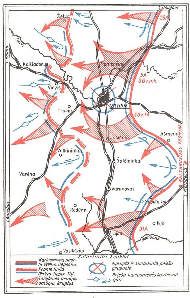 Schema. Vilniaus isvadavimas (1944 m. liepa).