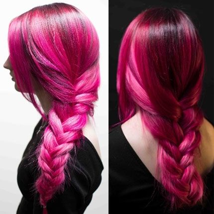 Hair Color How To: Dark Berry Melt and Pink Rush by Ashley Spangenberg