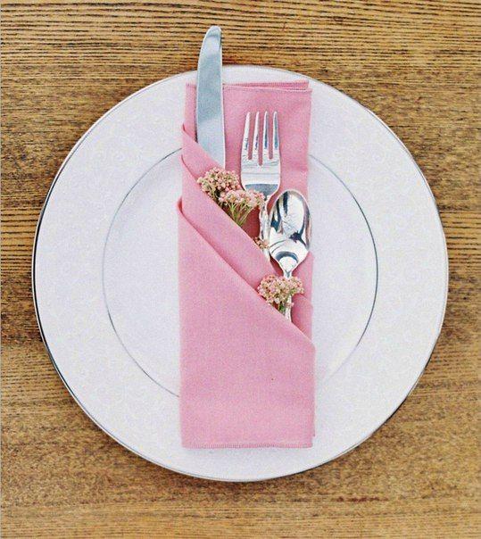 Салфетки, сложенные в виде трех кармашков, очень простой и красивый способ сервировки праздничного стола / Живой лёд глобальных вопросов