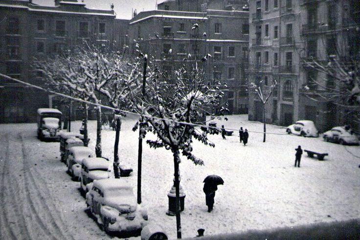 Plaça d'Osca, la gran nevada del 1962.