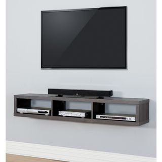 This Wall Mounted Component Storage Unit Creates A Contemporary Yet  Classicalu2026 Wall Mounted Tv ConsoleMount ...