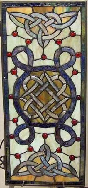 Celtic beautiful stained glass windows Photo | Celtic Knot Stained Glass Window