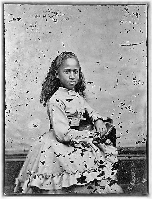 A young girl, late 1800's, from a Black History Album, via Flickr