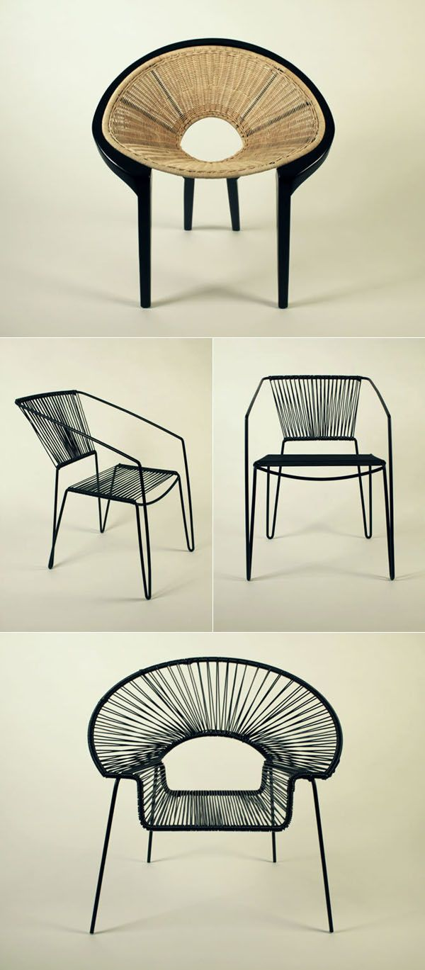 He aquí otro ejemplo de las sillas que se usan en zonas costeras sin embargo son mas contemporáneas debido a sus materiales y colores ademas de que una de ellas esta hecha en lo que cerámica parece ser.