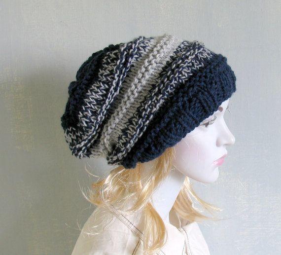 Slouchy Beanie Hat  Handmade Hat  Warm Hat Beanie Hand by vintachi