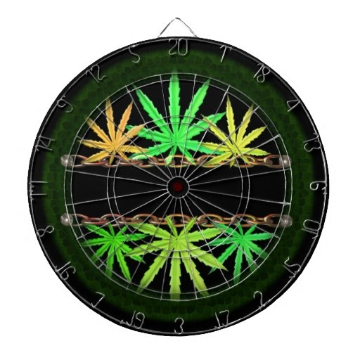 Valxart   dart board/dartboard with 6 darts See more cannabis/marijuana art by Valxart.com at http://zazzle.com/valxartmedicalpot*  See Valxart Dart boards & dartboard  games at http://pinterest.com/valxart/dartboards-darts-make-customize-or-buy-valxart-dar/ #Bong #Pipe #Waterpipe #Stoner #Pot #Weed #Glasspipe #Teagardins #SmokeShop http://Teagardins.com
