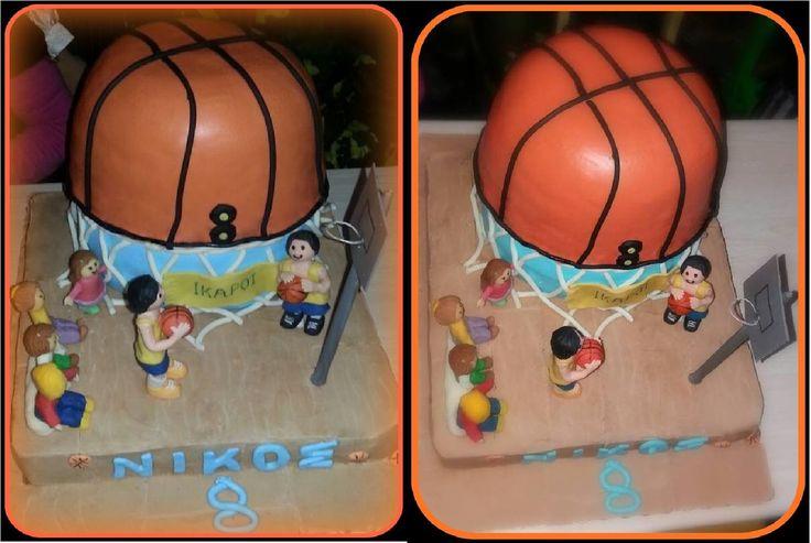 Τούρτα με θέμα το μπάσκετ, για ένα αγόρι που το λατρεύει!! Basketball themed birthday cake for a sweet boy!