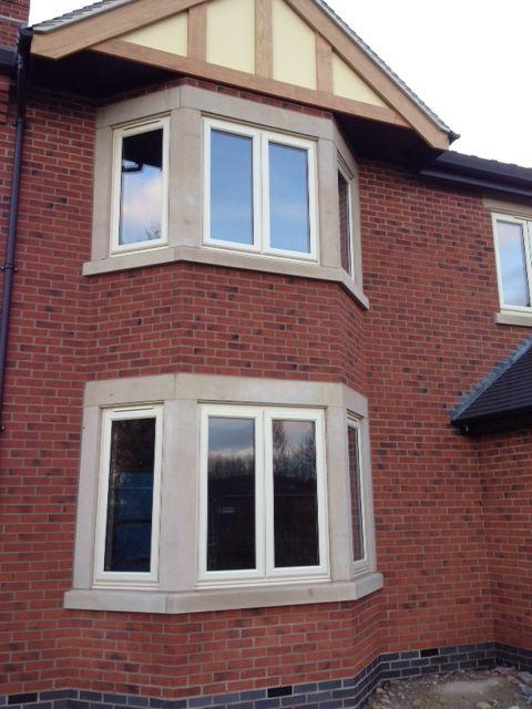 Cream upvc windows newbuild nottinghamshire https for Reclaimed upvc doors