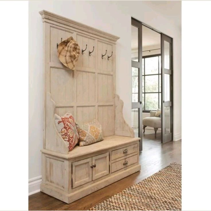 New Entry Storage Bench with Coat Rack