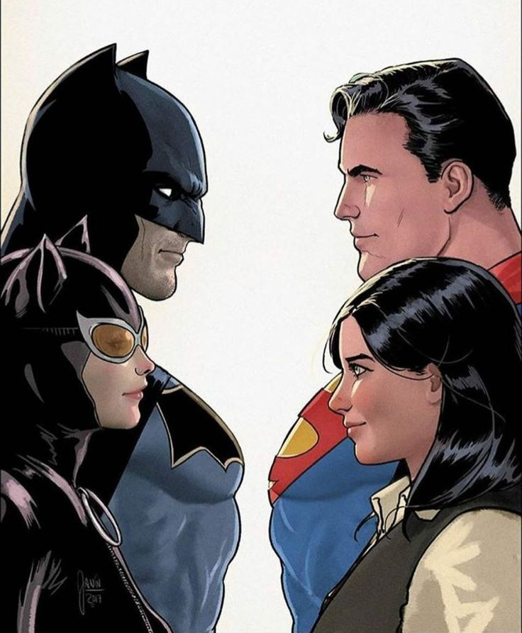 Batman, Catwoman, Superman & Lois Lane