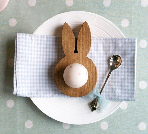 Hop & Peck (polka-dot egg) // super cute for an easter lunch and/or a little bunny baby shower.  egg decorating a must!