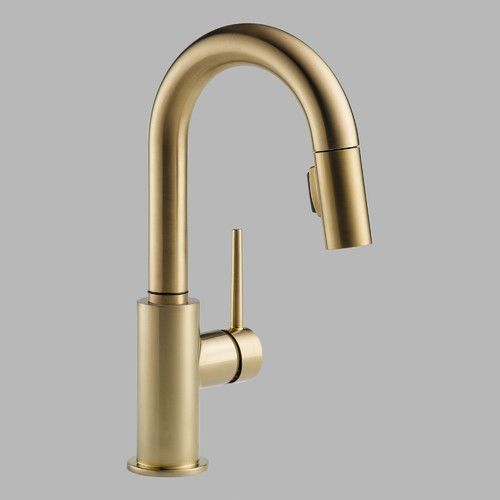Delta Trinsic Single Handle Single Hole Pull-Down Kitchen Faucet with Diamond Seal Technology & Reviews | Wayfair