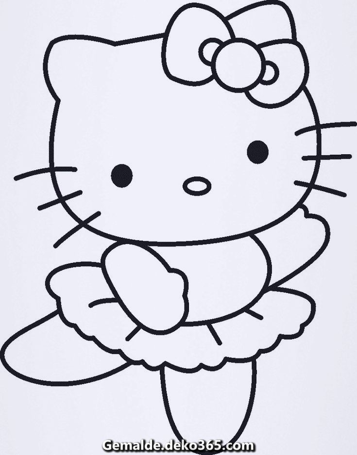 Fantastische Hallo Kitty Farbung Tanzen Druckbare Padagogische Hello Kitty Drawing Hello Kitty Coloring Kitty Coloring