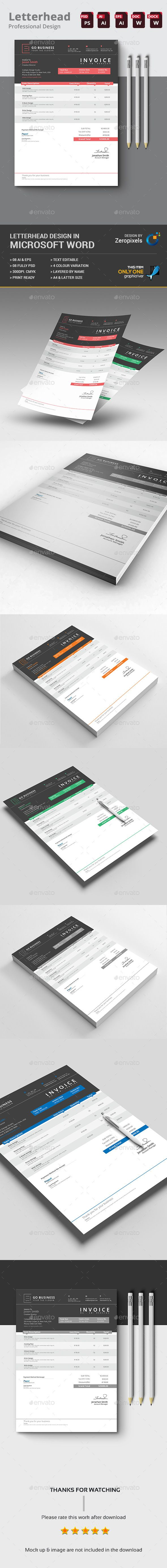 Invoice Template PSD Vector EPS AI MS