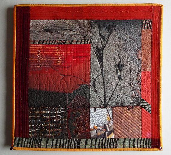 Art Quilt Fiber Art Wall Hanging non-traditional quilt by jill2day