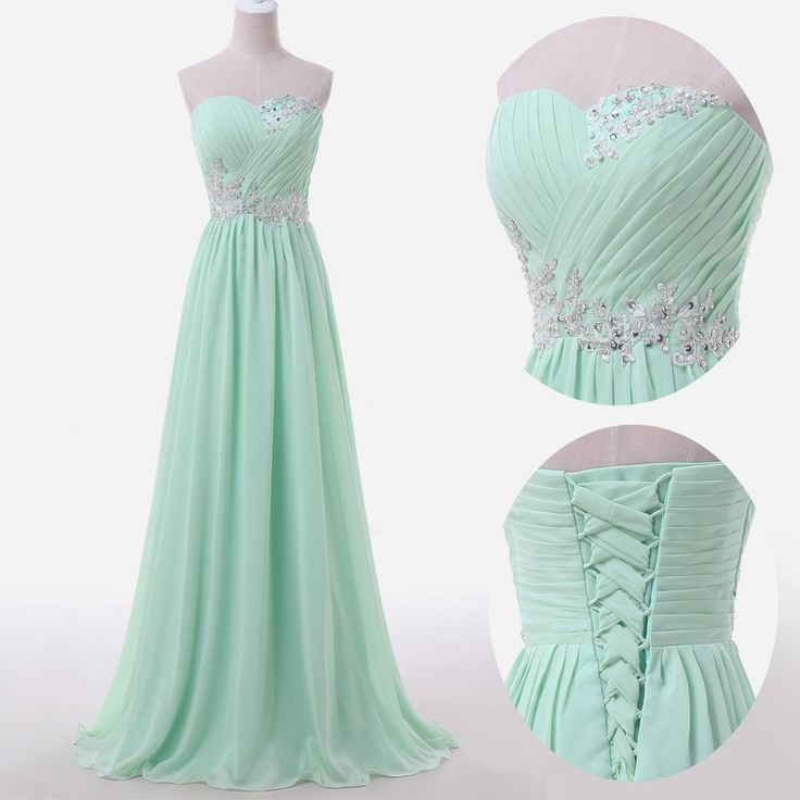 Mint Long Beaded Prom Dress | You can find this at => http://feedproxy.google.com/~r/amazingoutfits/~3/sikbQNKOY0E/photo.php