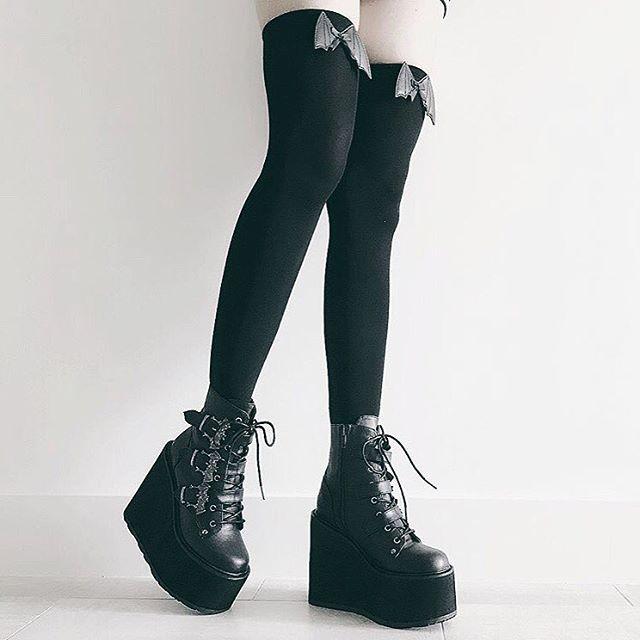 093de30cd1d Women's Demonia SWING-103 Platform Ankle Boot Black in 2019 ...