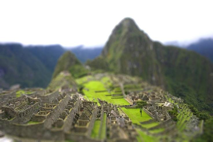 Machu Pichu Tilt Shift