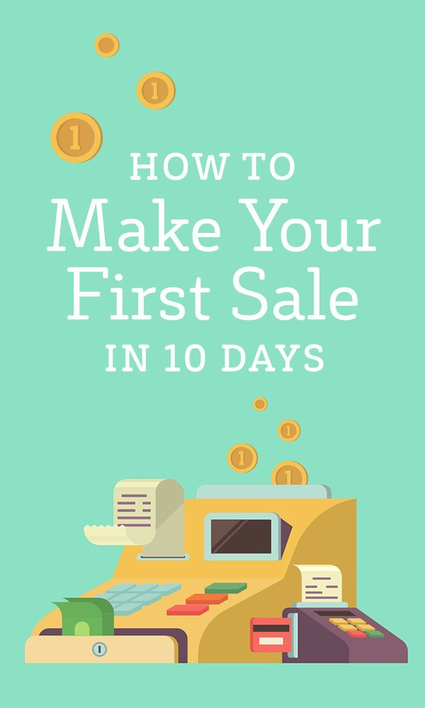 marketing how to get your first sale