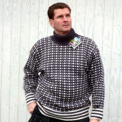 Norwool rullekrave uld sweater