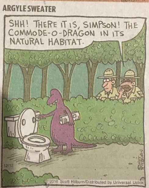 Clever pun cartoon.