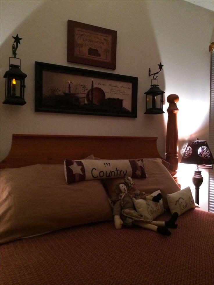 prim bedroom decor primitive
