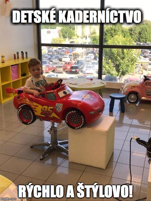 Počkaj až prídem raz na Ferrari...#detskekadernictvo #boy #newlook #haircut #trnava #slovakia