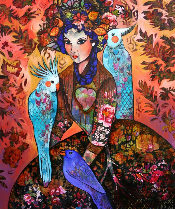 """SOLD """"The Queen Regent and Her Brood"""" by Sarah Hickey  www.tuskgallery.com.au"""