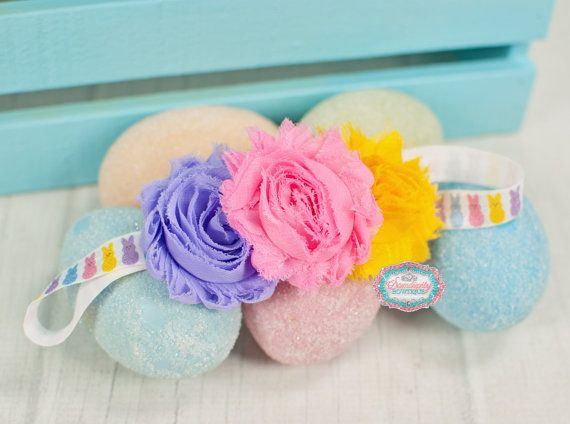 Easter Headband Pastel Flower Headband by SamdipityBowtique