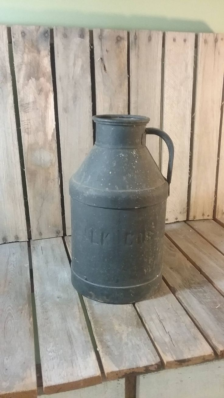 Metal Milk Jug, Antique Milk Can, Old Milk Can, Vintage Milk Jug, Farm Can, Whites Milk Can, Old Milk Jug, Small Milk Bottle, Milk Cans by UpTheAntiqueCo on Etsy