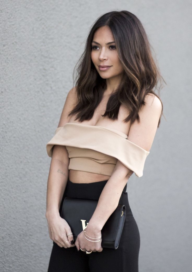 Still In Black and Tan - La La Mer by Marianna Hewitt // black and tan outfit crop top and high waist pants // zachary the label louis vuitton forever21