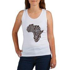 Africa in a giraffe camouflage Women's Tank Top