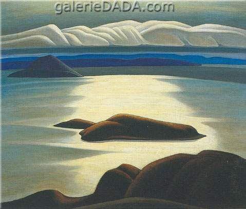 Lawren Harris,  Morning Lake Superior Fine Art Reproduction Oil Painting