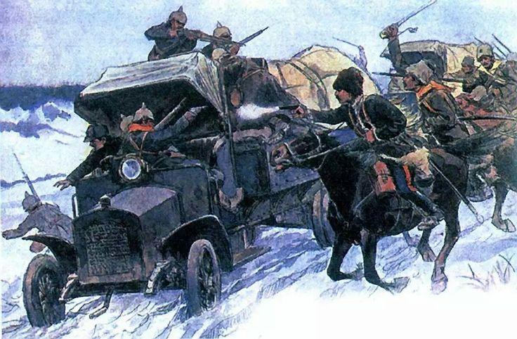 Захват германских автомобилей в Первую мировую