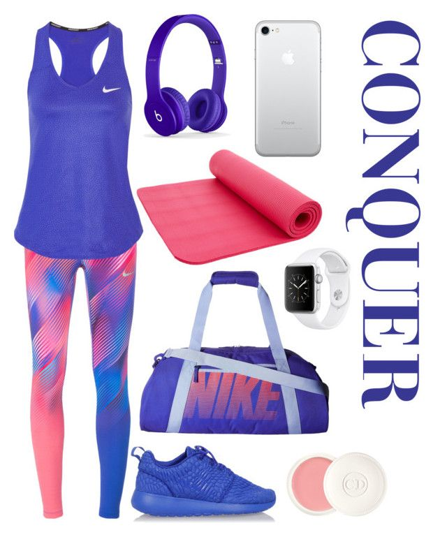 """Conquer"" by theodor44444 ❤ liked on Polyvore featuring NIKE, Christian Dior, Sports, fight, win, winner and conquer"