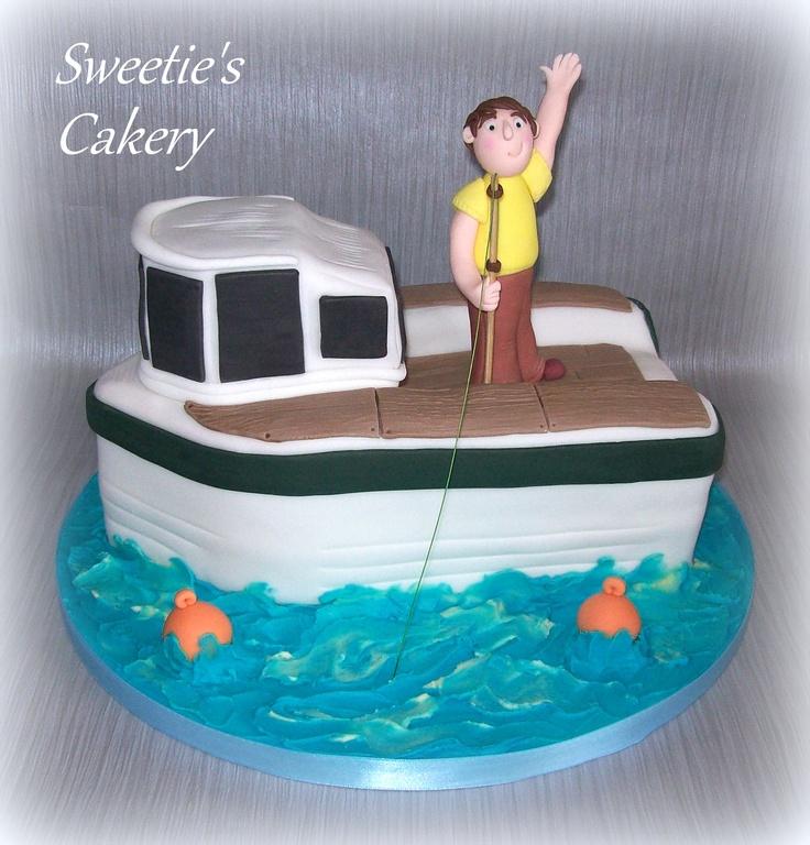 Best Bryces Boat Birthday Images On Pinterest Boat Cake - Fishing boat birthday cake