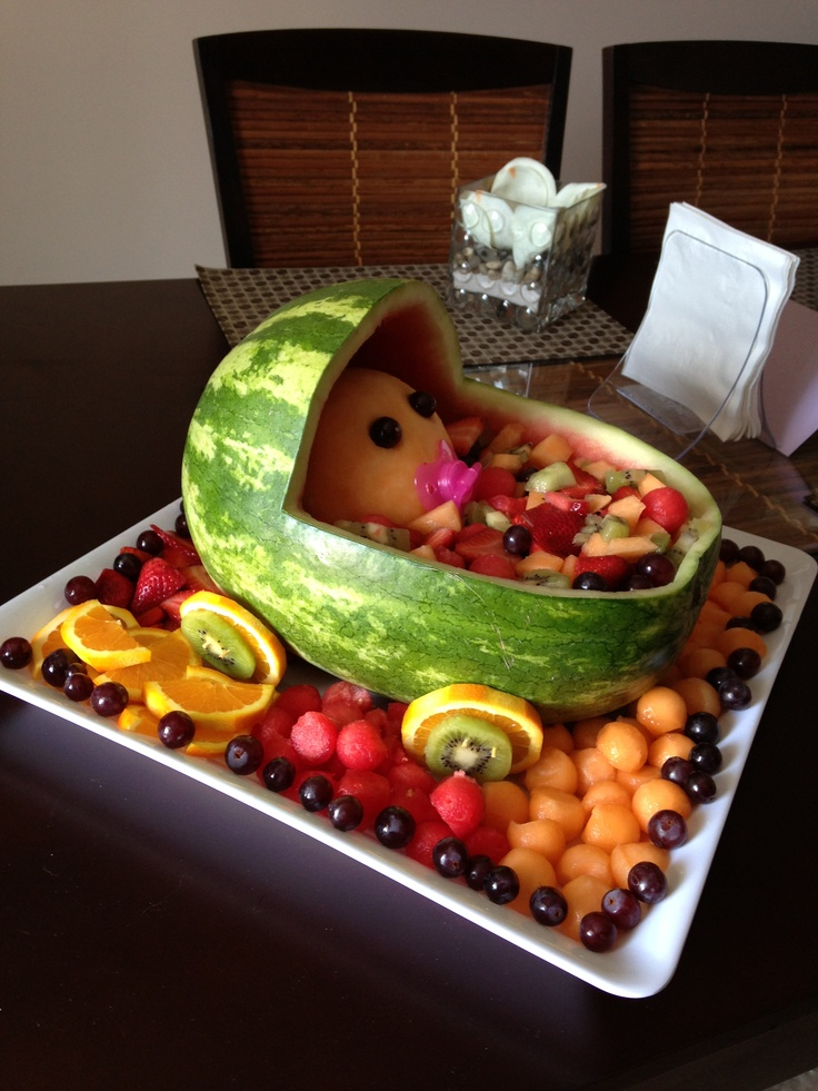 Baby fruit carriage.