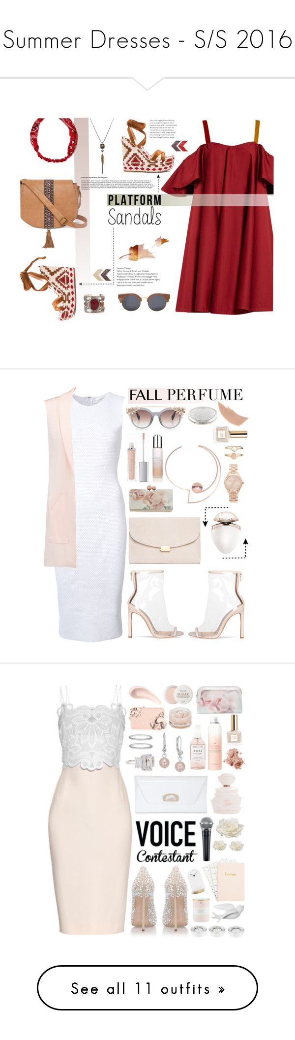 """""""Summer Dresses - S/S 2016"""" by nvoyce ❤ liked on Polyvore featuring Anna October, Gianvito Rossi, T-shirt & Jeans, Carole, Finlay & Co., platforms, Victoria Beckham, Rebecca Minkoff, Mansur Gavriel and Ted Baker"""