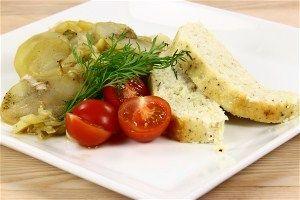 Fiskefarsbrød med kartofler