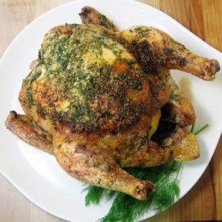 Garlic-Dill Roasted Chicken Recipe « Go Bold with ButterChicken Recipe