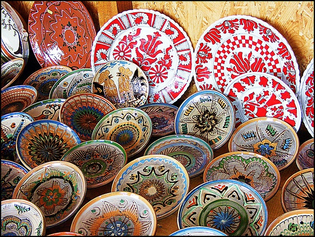 Horezu ceramics is a unique type of Romanian pottery that is traditionally produced by hand around the town of Horezu in northern Oltenia (Vâlcea County), close to the famous Horezu Monastery. It reflects many generations of knowledge and skills in the development of the pottery, which is why the craftsmanship of Horezu pottery was inscribed on UNESCO Intangible Cultural Heritage Lists in December 2012.
