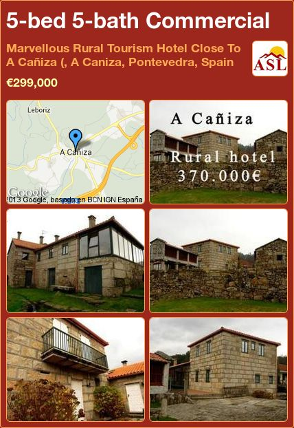 5-bed 5-bath Commercial in Marvellous Rural Tourism Hotel Close To A Cañiza (, A Caniza, Pontevedra, Spain ►€299,000 #PropertyForSaleInSpain