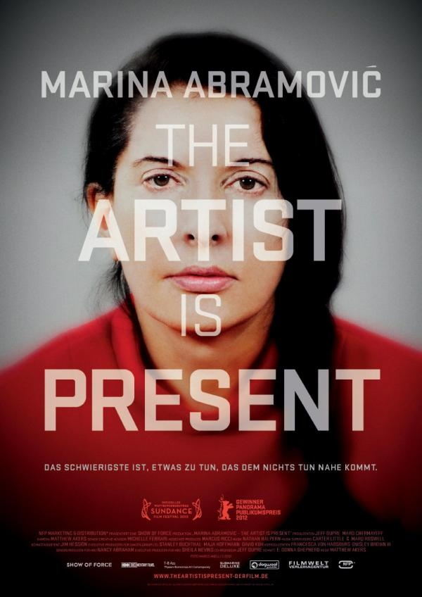 Marina Abramovic: The Artist Is Present.  Powerful documentary showing her time in MOMA in New York.