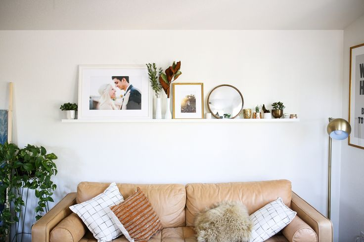 A Framebridge photo ledge styled 3 ways by @chelseabirdd