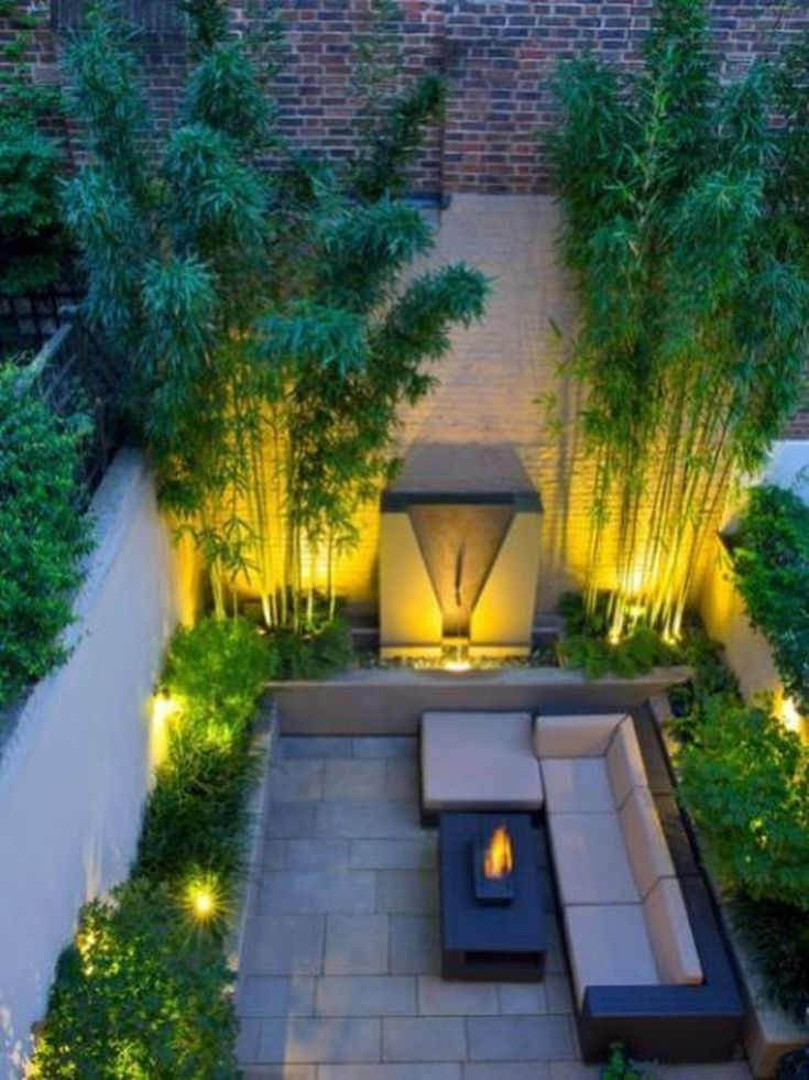 38 Relaxing Terrace Garden Design Ideas With Lighting