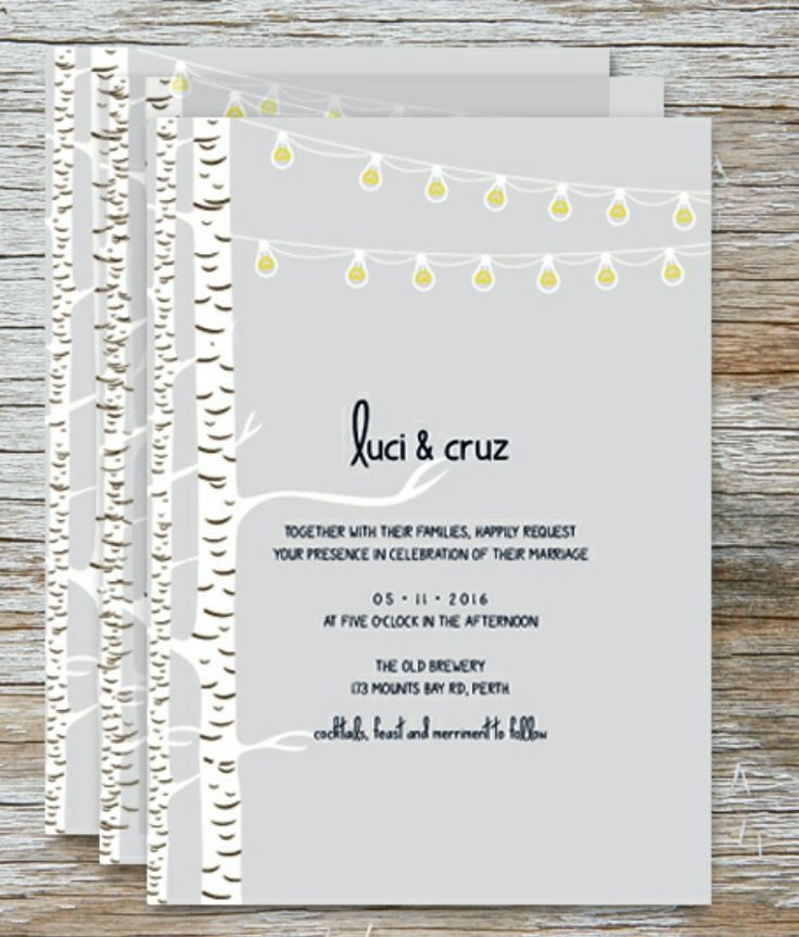 The Woodland Nights invitations by Love and Ink Wedding Stationery. View the full range at www.loveandink.com.au