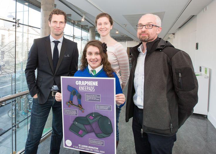 Primary school, 2nd place: Lauren Middleton, 5th class, Belgrove Senior Girls' School, Dublin with judges Jonathan McCrea, Jessamyn Fairfield and Prof. Ed Lavelle